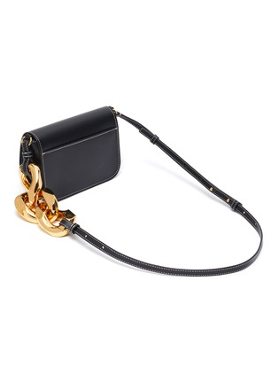 Detail View - Click To Enlarge - JW ANDERSON - Anchor chain midi calfskin leather crossbody bag