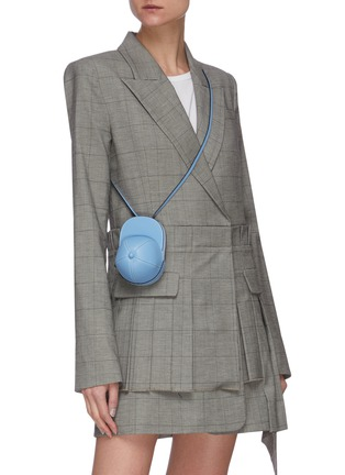 Figure View - Click To Enlarge - JW ANDERSON - Nano cap crossbody leather bag