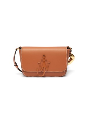 Main View - Click To Enlarge - JW ANDERSON - Anchor chain midi calfskin leather crossbody bag