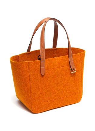 Detail View - Click To Enlarge - JW ANDERSON - Anchor embroidered felt tote bag