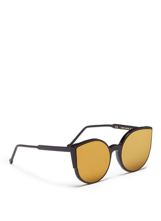 Figure View - Click To Enlarge - SUPER - 'Lucia' cat eye mirror sunglasses