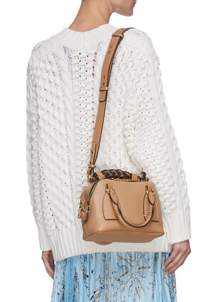Front View - Click To Enlarge - CHLOÉ - 'Daria' small leather bag