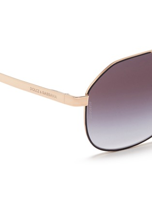 Detail View - Click To Enlarge - Dolce & Gabbana - Metal temple angled aviator sunglasses