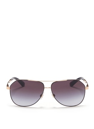 Main View - Click To Enlarge - Dolce & Gabbana - Metal temple angled aviator sunglasses