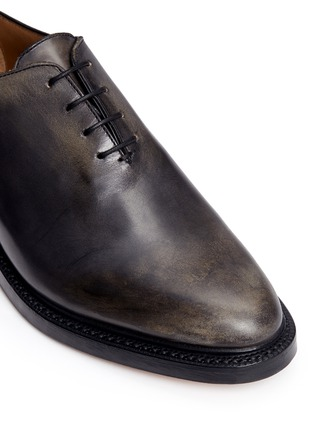 Detail View - Click To Enlarge - Thom Browne - 'Phase 2' burnished wholecut leather Oxfords