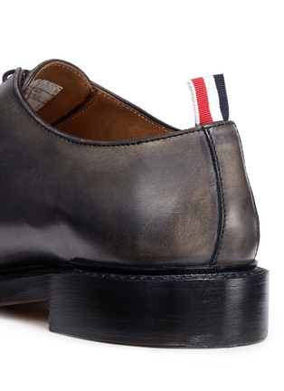 - Thom Browne - 'Phase 2' burnished wholecut leather Oxfords