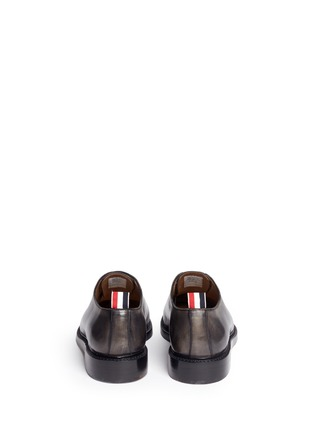 Back View - Click To Enlarge - Thom Browne - 'Phase 2' burnished wholecut leather Oxfords