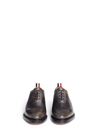 Front View - Click To Enlarge - Thom Browne - 'Phase 2' burnished wholecut leather Oxfords