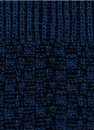 Detail View - Click To Enlarge - FALKE - 'Bed Rock' knit check crew socks