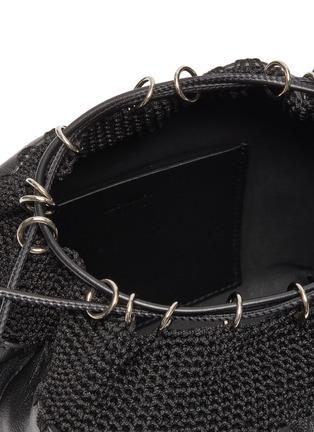 Detail View - Click To Enlarge - JIL SANDER - Crochet panel drawstring leather bag