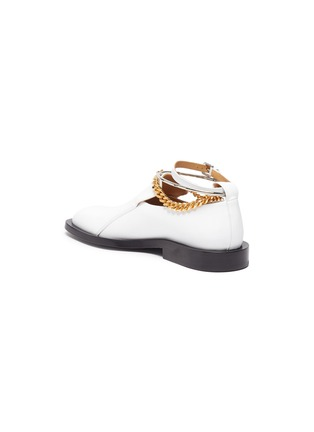 - JIL SANDER - Metal ankle ring chain element leather loafers