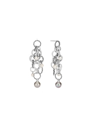 Main View - Click To Enlarge - JOHN HARDY - 'Classic Chain' pearl sterling silver interlink drop earrings