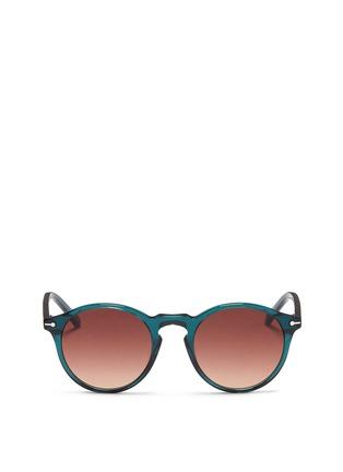 Main View - Click To Enlarge - Sons+Daughters Eyewear - 'Clark' kids keyhole bridge acetate round sunglasses