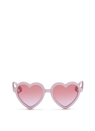 Main View - Click To Enlarge - SONS + DAUGHTERS - 'Lola' kids acetate heart shape sunglasses