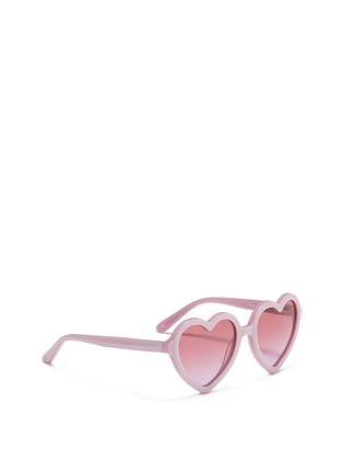 Figure View - Click To Enlarge - SONS + DAUGHTERS - 'Lola' kids acetate heart shape sunglasses