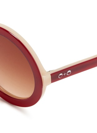 Detail View - Click To Enlarge - SONS + DAUGHTERS - 'XO' kids acetate sunglasses