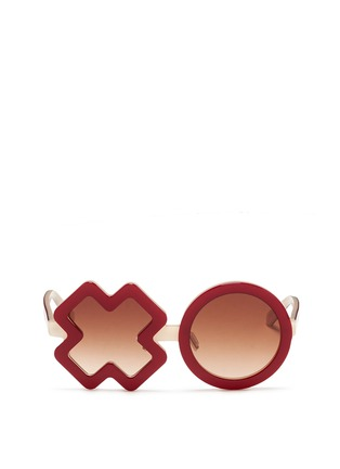 Main View - Click To Enlarge - SONS + DAUGHTERS - 'XO' kids acetate sunglasses