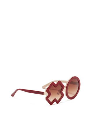 Figure View - Click To Enlarge - SONS + DAUGHTERS - 'XO' kids acetate sunglasses