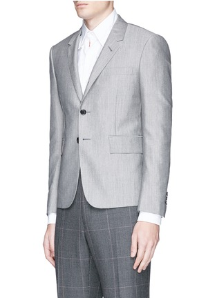 Front View - Click To Enlarge - THOM BROWNE - Wool-Mohair blend blazer