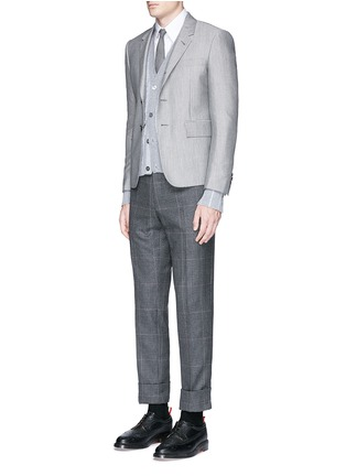 Figure View - Click To Enlarge - THOM BROWNE - Wool-Mohair blend blazer