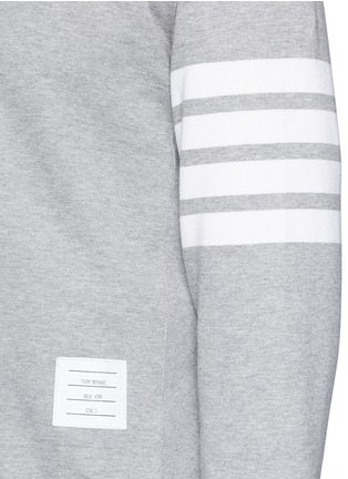 Detail View - Click To Enlarge - Thom Browne - Stripe sleeve side split sweatshirt