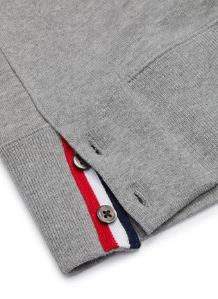 - THOM BROWNE - Stripe sleeve crewneck sweatshirt