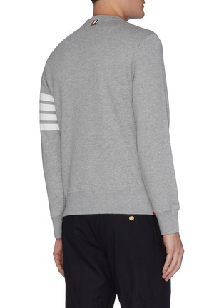 Back View - Click To Enlarge - Thom Browne - Stripe sleeve side split sweatshirt