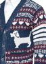 Detail View - Click To Enlarge - Thom Browne - 'Hector' wool-Mohair Fair Isle cardigan