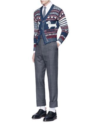 Figure View - Click To Enlarge - Thom Browne - 'Hector' wool-Mohair Fair Isle cardigan