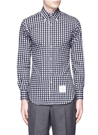 Main View - Click To Enlarge - Thom Browne - Buffalo check cotton dobby shirt