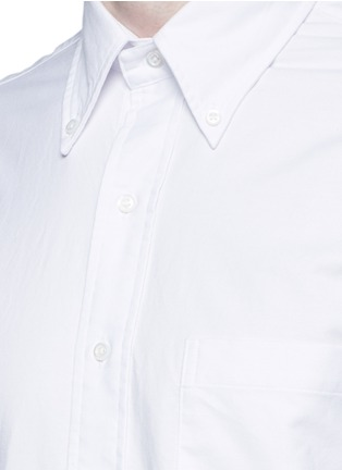 Detail View - Click To Enlarge - THOM BROWNE - Stripe cotton Oxford shirt