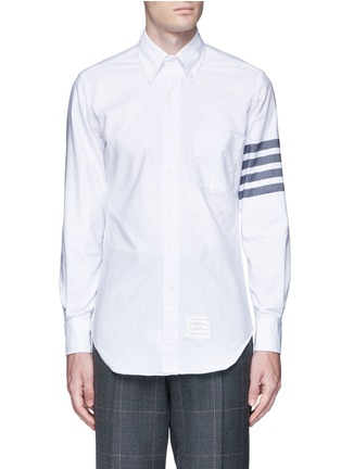 Main View - Click To Enlarge - THOM BROWNE - Stripe cotton Oxford shirt