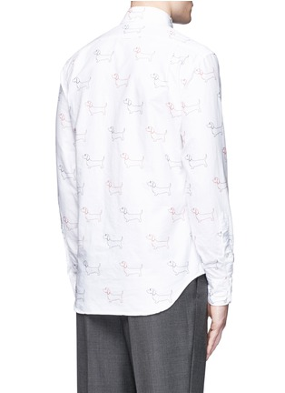 Back View - Click To Enlarge - Thom Browne - Hector' embroidery cotton Oxford shirt