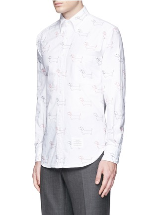 Front View - Click To Enlarge - Thom Browne - Hector' embroidery cotton Oxford shirt