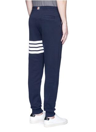 Back View - Click To Enlarge - Thom Browne - Stripe print cotton sweatpants