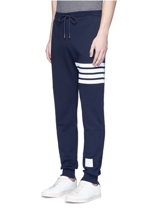 Front View - Click To Enlarge - Thom Browne - Stripe print cotton sweatpants