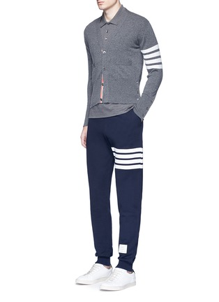 Figure View - Click To Enlarge - Thom Browne - Stripe print cotton sweatpants