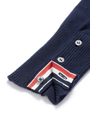 Detail View - Click To Enlarge - Thom Browne - Stripe sleeve cashmere sweater