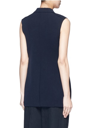 Back View - Click To Enlarge - HELMUT LANG - Technical stretch suiting vest