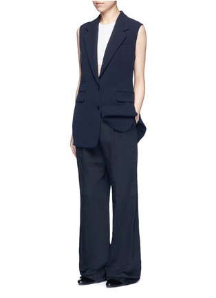 Figure View - Click To Enlarge - HELMUT LANG - Technical stretch suiting vest