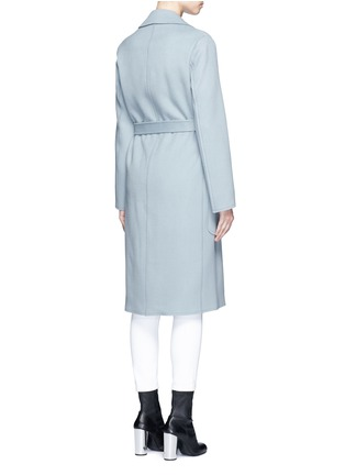 Back View - Click To Enlarge - Helmut Lang - Double face wool-cashmere belted coat
