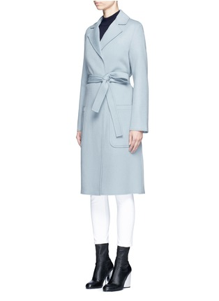 Front View - Click To Enlarge - Helmut Lang - Double face wool-cashmere belted coat