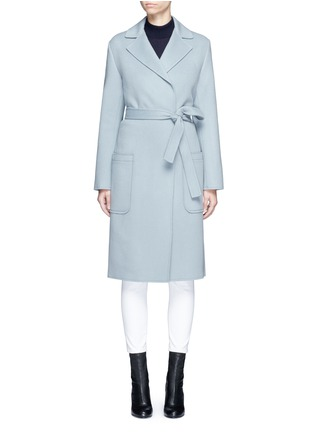 Main View - Click To Enlarge - Helmut Lang - Double face wool-cashmere belted coat