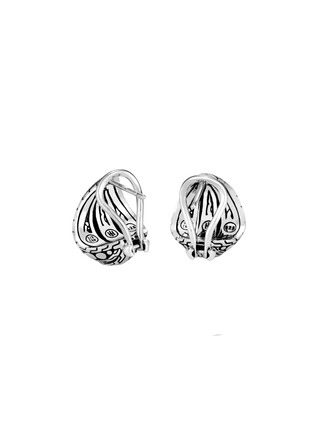 Detail View - Click To Enlarge - JOHN HARDY - Dot' 18k yellow gold sterling silver buddha belly earrings