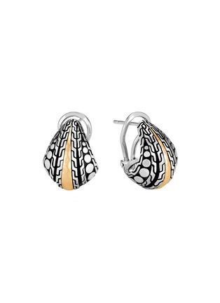 Main View - Click To Enlarge - JOHN HARDY - Dot' 18k yellow gold sterling silver buddha belly earrings