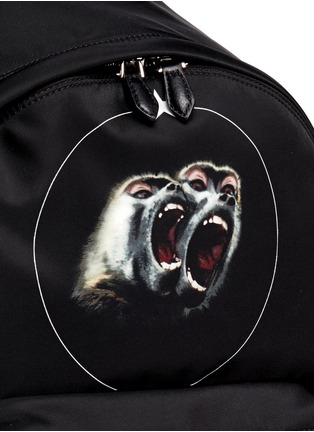 Detail View - Click To Enlarge - GIVENCHY - 'Monkey Brothers' nylon backpack