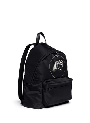 Front View - Click To Enlarge - GIVENCHY - 'Monkey Brothers' nylon backpack
