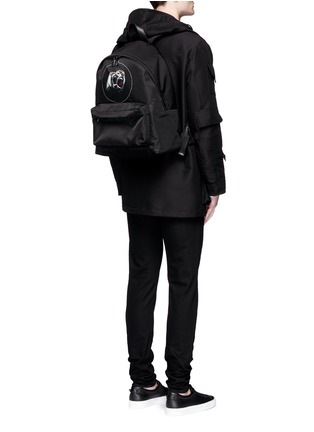 Figure View - Click To Enlarge - GIVENCHY - 'Monkey Brothers' nylon backpack