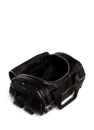 Detail View - Click To Enlarge - Givenchy - Star print leather duffle backpack