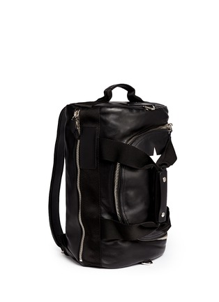 Figure View - Click To Enlarge - Givenchy - Star print leather duffle backpack